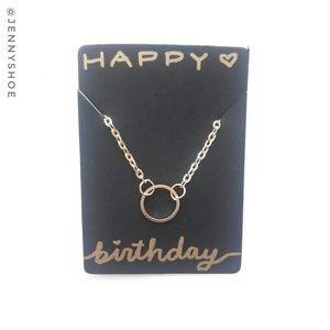 🍒3/$12 sale🍒{happy birthday} circle necklace